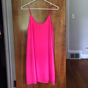 Francesca's Hot Pink Shift Dress